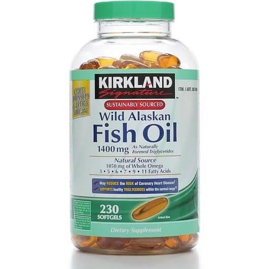D U C Kirkland Signature Wild Alaskan Fish Oil 1400mg